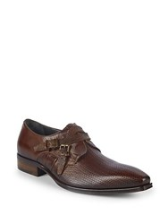 Jo Ghost Buckled Leather Loafers Tan