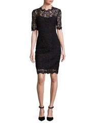 Lk Bennett Floral Lace Overlay Sheath Dress
