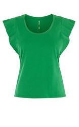 Karen Millen Pleated Sleeve Tee Green