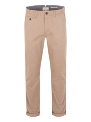 Racing Green Bridge Flat Front Chinos Stone
