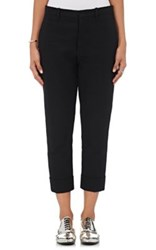 Marni Women's Cotton Slim Ankle Trousers Black