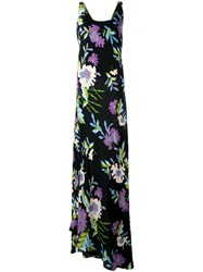 Diane Von Furstenberg Floral Maxi Dress Black