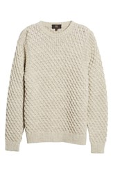 Frye Ethan Fisherman Cable Sweater Cream