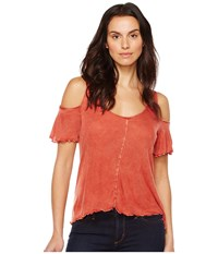 Lamade Ollie Cold Shoulder Top Bossa Nova Women's Clothing Multi