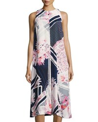 French Connection Samba Avenue Floral Print Draped Jumpsuit Multi Pattern