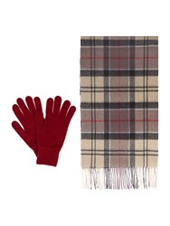Barbour Scarf And Glove Gift Box Set Navy
