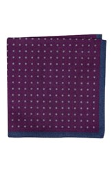 Ted Baker Men's London Paisley Dot Double Sided Wool Pocket Square