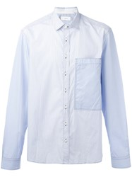 Joseph Striped Large Pocket Shirt White