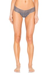 Commando Tulip Lace Tanga Thong Charcoal