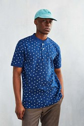 Cpo Rush Printed Band Collar Shirt Navy