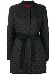 Moncler Gamme Rouge Quilted Tie Waist Padded Jacket Black