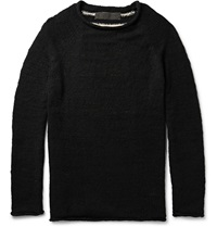 The Elder Statesman Flaco Striped Cashmere Sweater Black