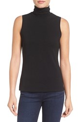 Vince Camuto Women's Sleeveless Turtleneck Top Rich Black