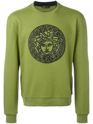 Versace Medusa Embroidered Sweatshirt Green