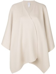 Agnona Wrap Around Poncho Nude And Neutrals