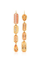Renee Lewis Antique Gem Topaz Earrings Brown