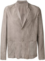 Salvatore Santoro Leather Blazer Grey