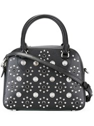 Versus Flower Studded Tote Black