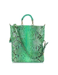 Ghibli Large Python Leather Tote Green