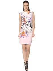 Roberto Cavalli Printed Stretch Cady Dress