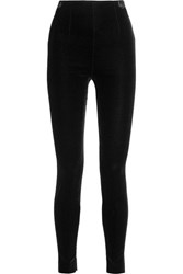 Balmain Velvet Leggings Black