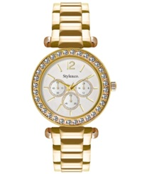 Style And Co. Women's Gold Tone Bracelet Watch 33Mm Sc1454