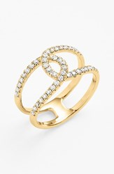Women's Bony Levy 'Knot' Diamond Cocktail Ring Yellow Gold Nordstrom Exclusive