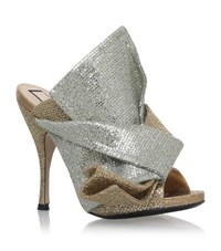 No.21 Glitter Bow Mules 105 Female Gold