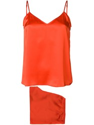 Equipment Two Piece Camisole Set Yellow And Orange
