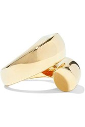 Elizabeth And James Moore Gold Tone Ring Gold