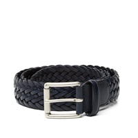 Andersons Anderson's Woven Leather Belt Navy