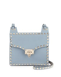Red Valentino Rockstud Lock Flap Square Shoulder Bag Gray Grey