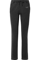Acne Studios Elodie Embroidered Cotton Jersey Track Pants Black