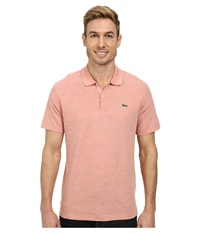 Lacoste L Ve Jaspe Jersey Slim Fit Fancy Polo Blushing Peach Pink Men's Short Sleeve Pullover