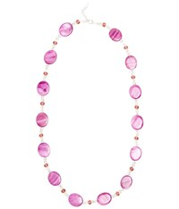 Viyella Violet Shell And Bead Long Necklace