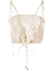 Alice Mccall Champers Ruffled Cami Gold