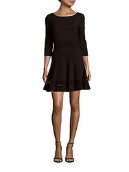 Erin By Erin Fetherston Tess Solid Boatneck Dress Black