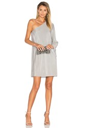 Blaque Label Luxe One Shoulder Dress Gray