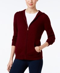 Charter Club Cashmere Zip Front Hoodie Only At Macy's Crantini