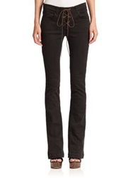Etro Lace Up Flare Leg Jeans Black