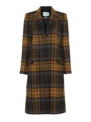 Dickins And Jones Longline Checked Coat Multi Coloured