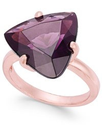 Charter Club Rose Gold Tone Stone Cocktail Ring Only At Macy's