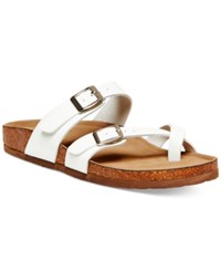 Madden Girl Bryceee Footbed Sandals White