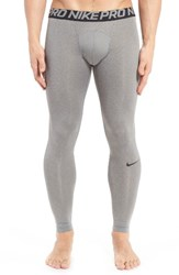 Nike Men's 'Pro Cool Compression' Four Way Stretch Dri Fit Tights Carbon Heather Black Black