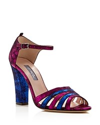 Sjp By Sarah Jessica Parker Jagger Ankle Strap High Heel Sandals Fuxia