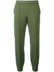 Blugirl Slim Fit Trousers Green