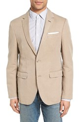 Sand Men's Trim Fit Cotton And Linen Blazer