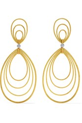 Buccellati Hawaii Waikiki 18 Karat Yellow And White Gold Earrings One Size