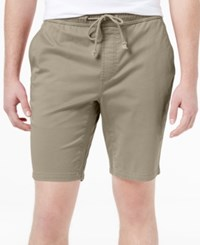 American Rag Men's Classic Fit Stretch Solid Drawstring Shorts Only At Macy's Rustic Khaki