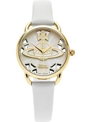 Vivienne Westwood Leadenhall Orb Dial Leather Watch Neutral